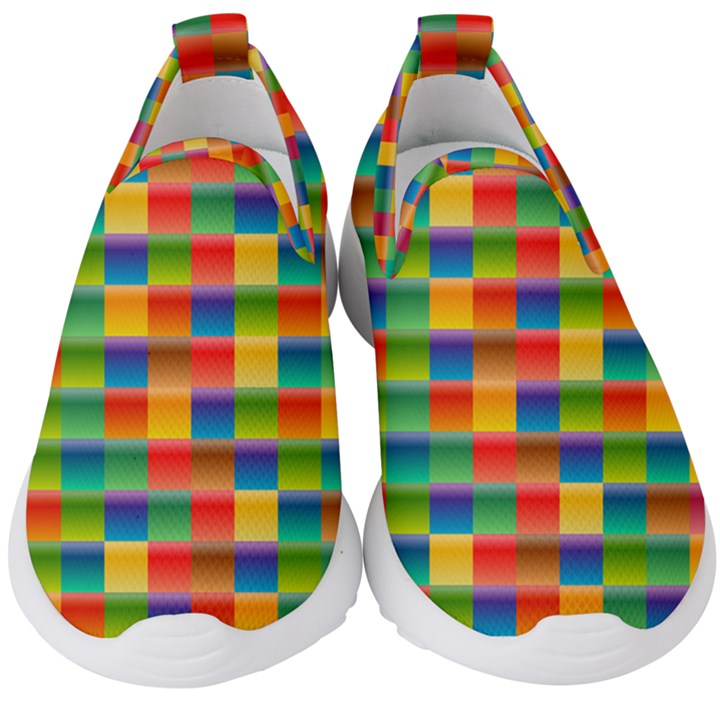 Background Colorful Abstract Kids  Slip On Sneakers