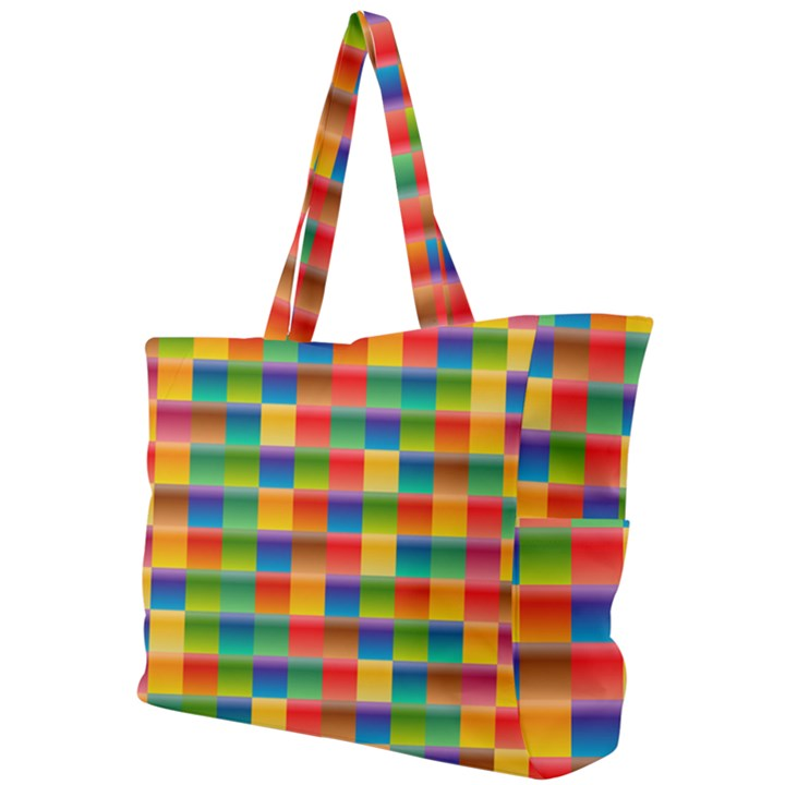 Background Colorful Abstract Simple Shoulder Bag