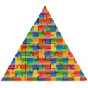 Background Colorful Abstract Wooden Puzzle Triangle View1