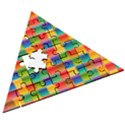 Background Colorful Abstract Wooden Puzzle Triangle View3