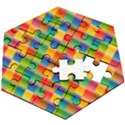 Background Colorful Abstract Wooden Puzzle Hexagon View2