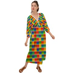 Background Colorful Abstract Grecian Style  Maxi Dress by HermanTelo
