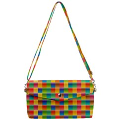 Background Colorful Abstract Removable Strap Clutch Bag by HermanTelo