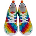 Peace Symbol Rainbow Women s Lightweight Sports Shoes View1