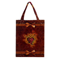 Beautiful Heart With Leaves Classic Tote Bag