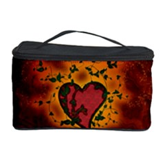 Beautiful Heart With Leaves Cosmetic Storage