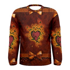 Beautiful Heart With Leaves Men s Long Sleeve Tee