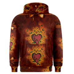 Beautiful Heart With Leaves Men s Pullover Hoodie