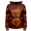 Beautiful Heart With Leaves Women s Pullover Hoodie View1