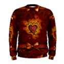 Beautiful Heart With Leaves Men s Sweatshirt View1