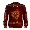Beautiful Heart With Leaves Men s Sweatshirt View2