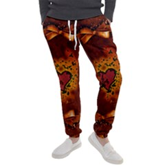 Beautiful Heart With Leaves Men s Jogger Sweatpants
