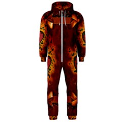Beautiful Heart With Leaves Hooded Jumpsuit (Men)