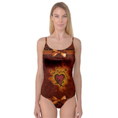 Beautiful Heart With Leaves Camisole Leotard