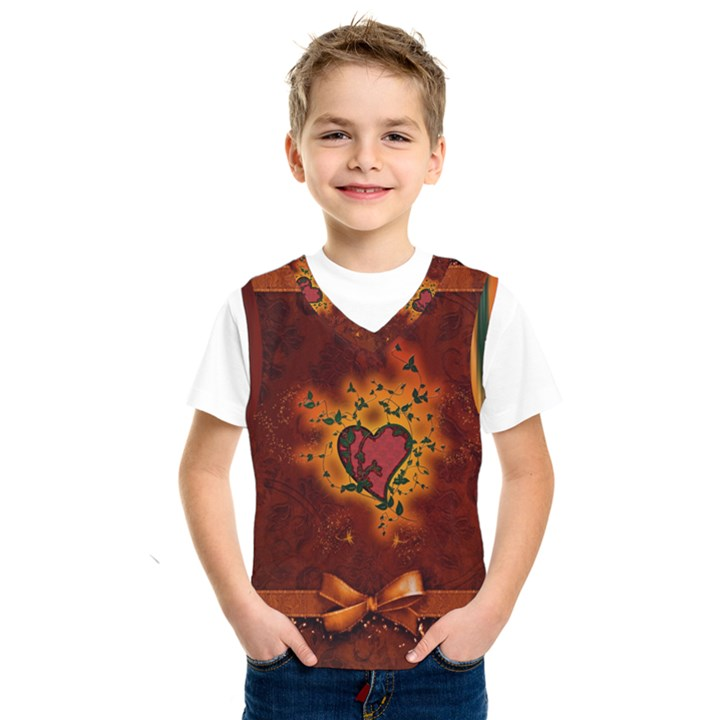 Beautiful Heart With Leaves Kids  SportsWear