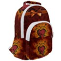 Beautiful Heart With Leaves Rounded Multi Pocket Backpack View2