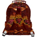 Beautiful Heart With Leaves Rounded Multi Pocket Backpack View3