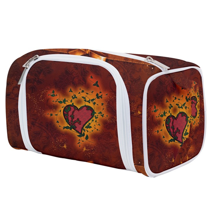 Beautiful Heart With Leaves Toiletries Pouch