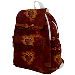 Beautiful Heart With Leaves Top Flap Backpack
