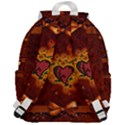 Beautiful Heart With Leaves Top Flap Backpack View3