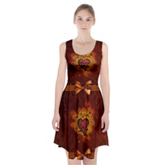 Beautiful Heart With Leaves Racerback Midi Dress
