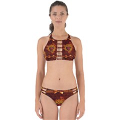 Beautiful Heart With Leaves Perfectly Cut Out Bikini Set