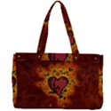 Beautiful Heart With Leaves Canvas Work Bag View2