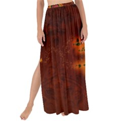 Beautiful Heart With Leaves Maxi Chiffon Tie-Up Sarong