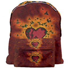 Beautiful Heart With Leaves Giant Full Print Backpack