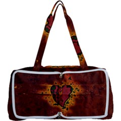 Beautiful Heart With Leaves Multi Function Bag
