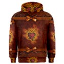 Beautiful Heart With Leaves Men s Overhead Hoodie View1
