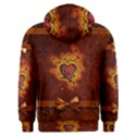 Beautiful Heart With Leaves Men s Overhead Hoodie View2