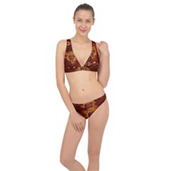 Beautiful Heart With Leaves Classic Banded Bikini Set