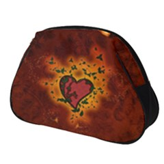 Beautiful Heart With Leaves Full Print Accessory Pouch (Small)