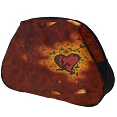 Beautiful Heart With Leaves Full Print Accessory Pouch (Big)