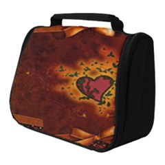 Beautiful Heart With Leaves Full Print Travel Pouch (Small)