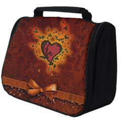 Beautiful Heart With Leaves Full Print Travel Pouch (Big)