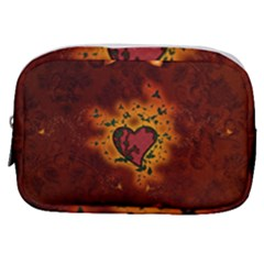 Beautiful Heart With Leaves Make Up Pouch (Small)