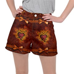 Beautiful Heart With Leaves Ripstop Shorts