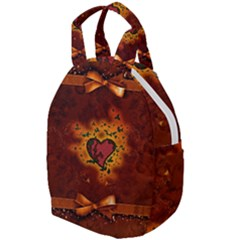 Beautiful Heart With Leaves Travel Backpacks