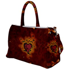 Beautiful Heart With Leaves Duffel Travel Bag