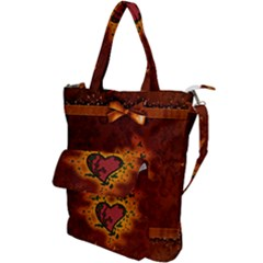 Beautiful Heart With Leaves Shoulder Tote Bag