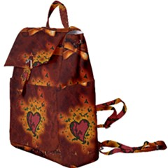 Beautiful Heart With Leaves Buckle Everyday Backpack