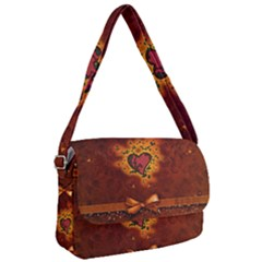 Beautiful Heart With Leaves Courier Bag