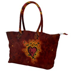 Beautiful Heart With Leaves Canvas Shoulder Bag