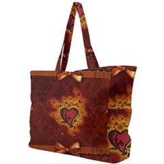 Beautiful Heart With Leaves Simple Shoulder Bag