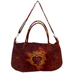 Beautiful Heart With Leaves Removal Strap Handbag