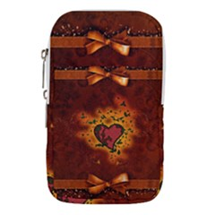 Beautiful Heart With Leaves Waist Pouch (Large)