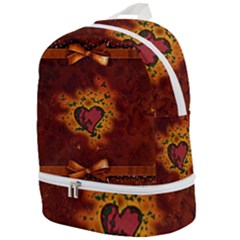 Beautiful Heart With Leaves Zip Bottom Backpack