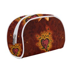 Beautiful Heart With Leaves Makeup Case (Small)